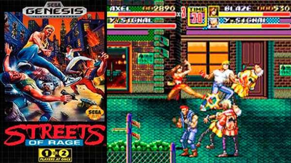 Streets Of Rage 1 y 2 Mega drive