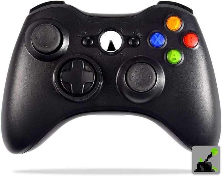 Los mejores accesorios xbox 360 - Mando negro inalámbrico