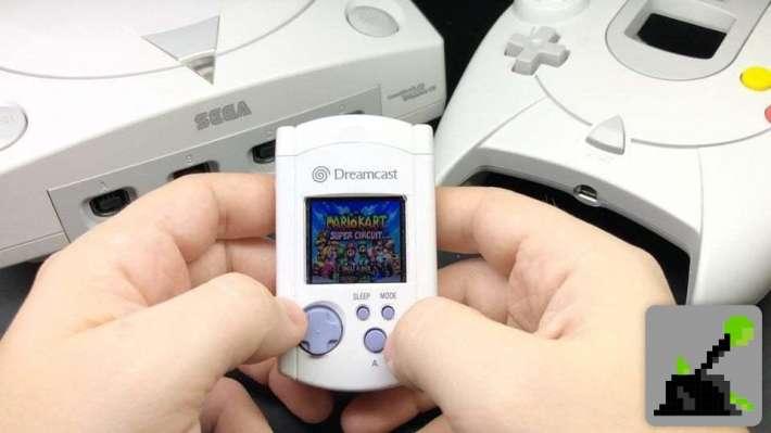 Posibilidades de juego Dreamcast Mini VMU - Mario Kart en la VMU. ¿Posible porte de otros juegos?