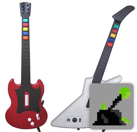 Controladores de héroes de guitarra