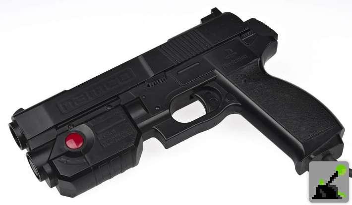 Namco Guncon Pistola ligera, negro