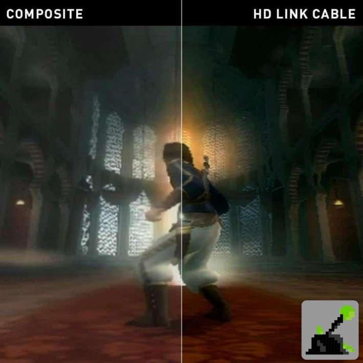 Imagen de antes y después usando el cable De la Xbox Pound